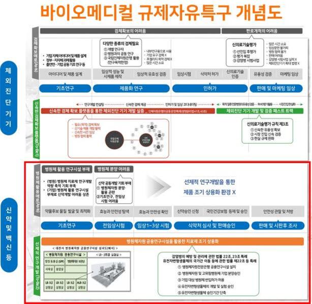 대전시 바이오메디컬 규제자유특구 개념도. 사진출처=대전시