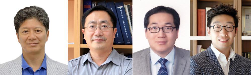 2020년도 기초연구실지원사업(BRL)에 선정된 DGIST 연구과제책임자(왼쪽부터 곽준명 교수, 김규형 교수, 이용민 교수, 김민석 교수)