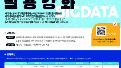 KISA, 사이버보안 빅데이터 전문교육 개설