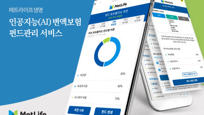 메트라이프생명, AI 변액보험 펀드관리 서비스 출시