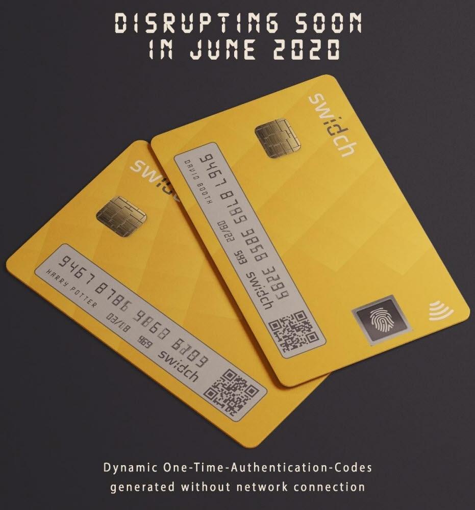 OTAC 기술이 적용된 디지털 카드. 센스톤 제공