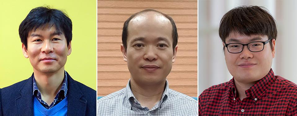 사진 왼쪽부터 이효철·이영민 KAIST 교수, 김태우 연구원