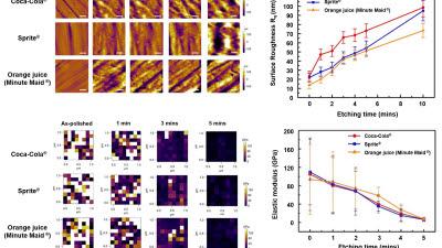 KAIST, '청량음료, 치아 건강에 해롭다'학설 증명..원자력간 현미경으로 관측