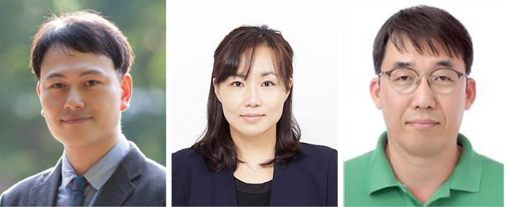왼쪽부터 오현철 경남과기대 교수, 문회리 UNIST 교수, 오인환 한국원자력연구원 연구원.