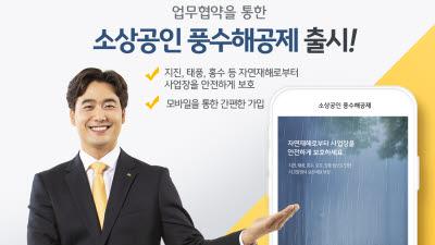 KB손보-행안부-중기중앙회, '소상공인 풍수해공제' 출시