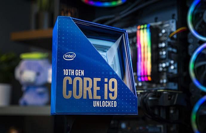 데스크톱 PC용 CPU 인10세대 인텔 코어 S시리즈.<사진: 인텔>