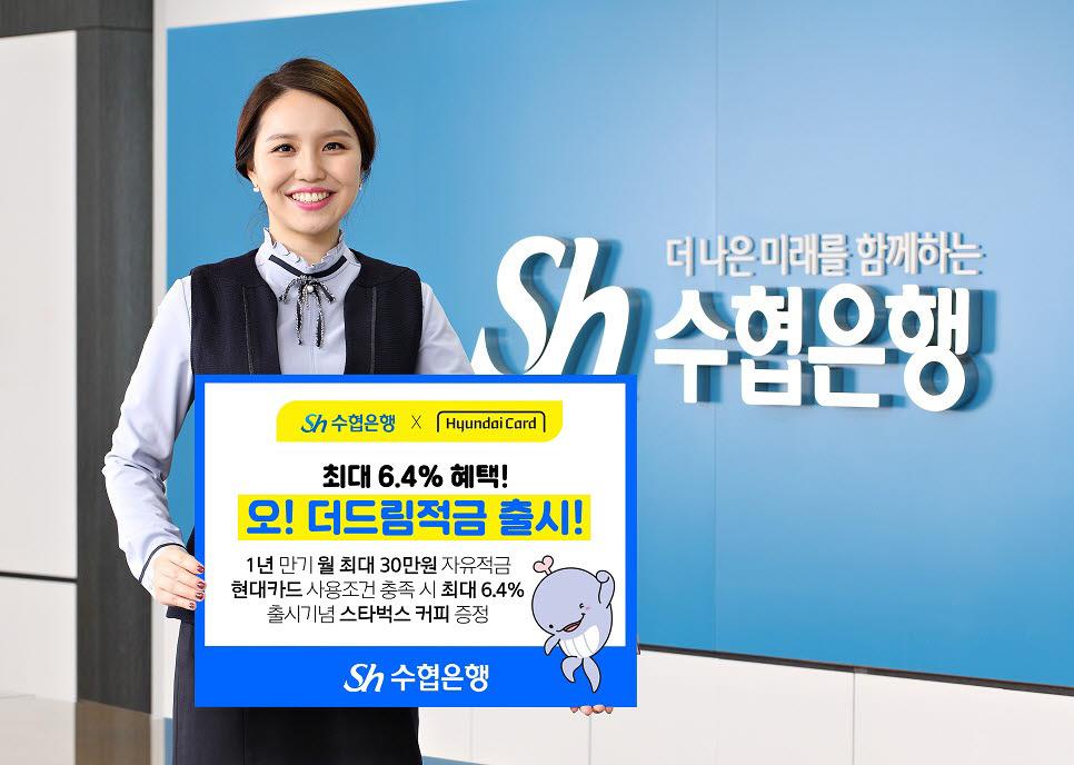 Sh수협은행, 현대카드 제휴 '오! 더드림적금' 출시…최대 6.4% 이율
