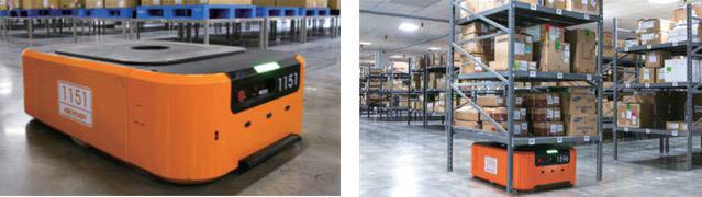 티라유텍의 물류로봇 솔루션.