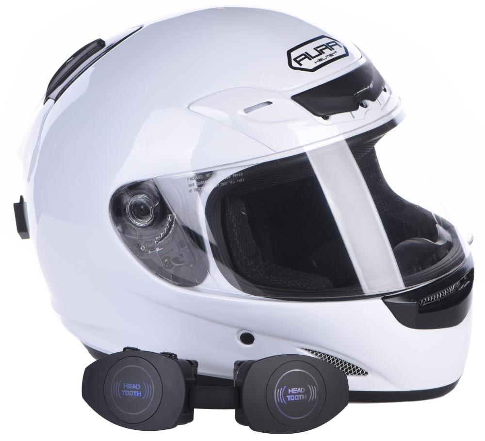예일전자가 헬멧에 탈부착하는 블루투스 헤드셋 헤드투스(HeadTooth)를 출시했다.