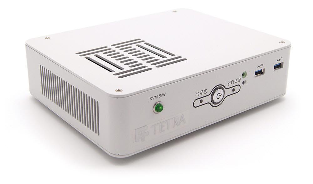 한국산업기술시험원에 공급되는 KVM 스위치 내장형 망분리 PC 테트라 KMDT 제품