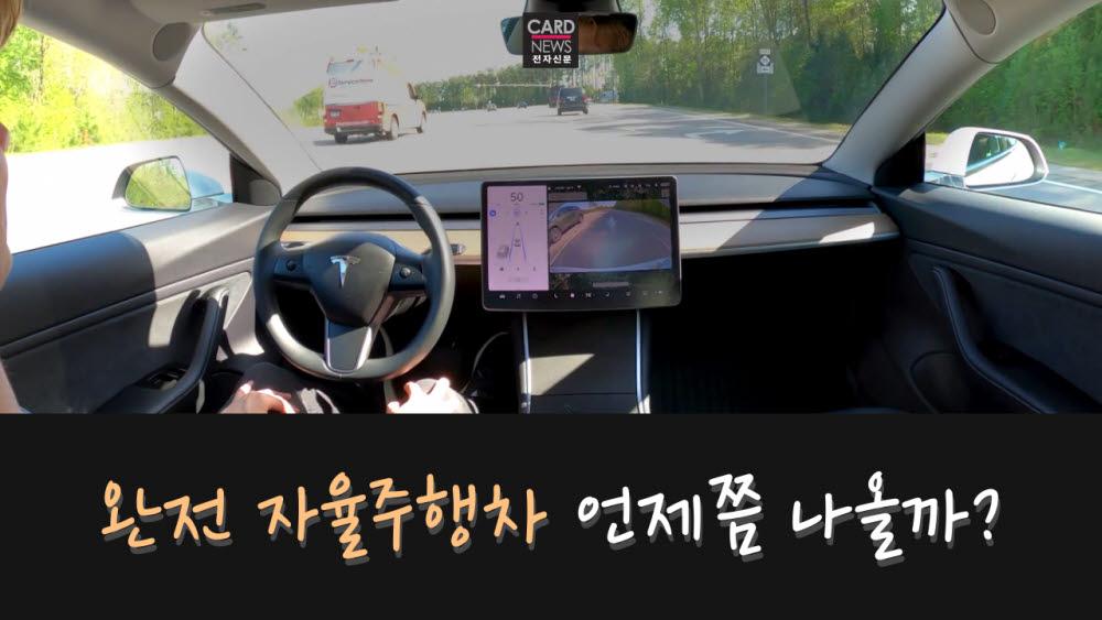 [카드뉴스]완전 자율주행차 언제쯤 나올까?