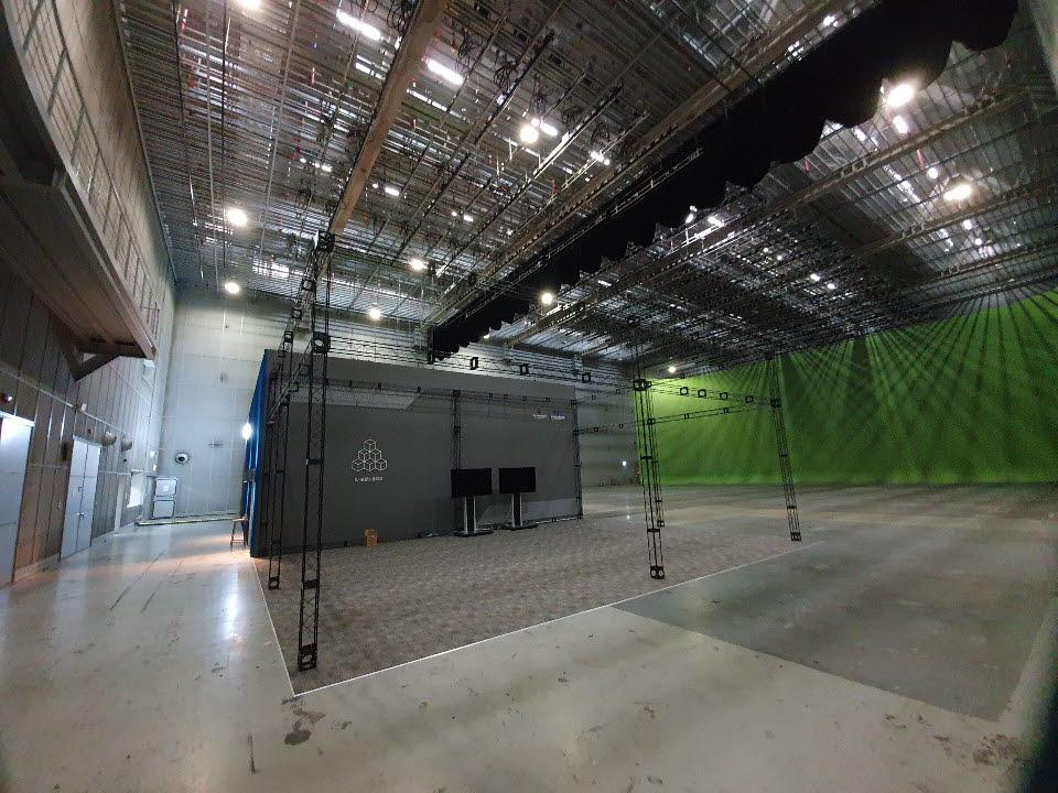 K-실감스튜디오는 서울 상암동 누리꿈스퀘어 공동제작센터 1층에 위치했다.
