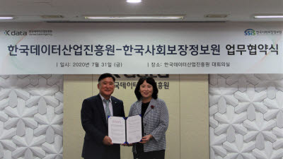 한국사회보장정보원-한국데이터산업진흥원, 데이터산업 발전 MOU 체결