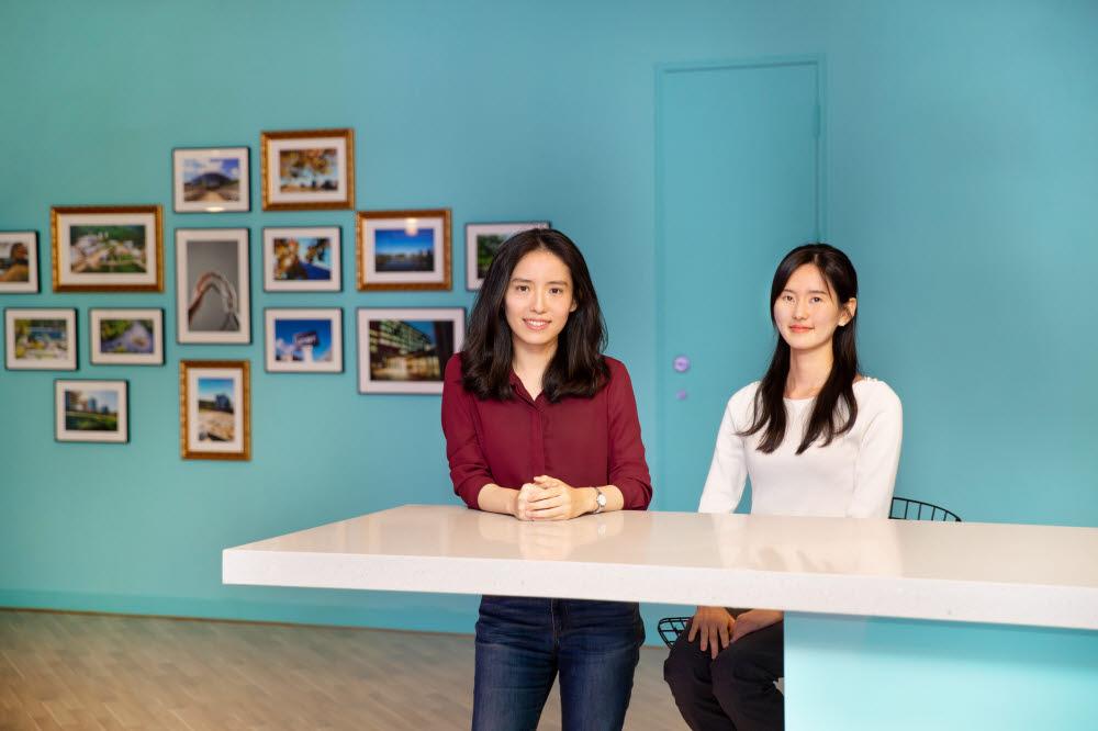 김지윤 UNIST 교수(왼쪽)와 송현서 연구원.