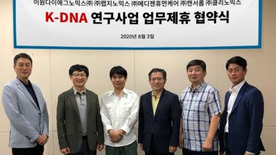 유전체 5개기업, K-DNA 연구사업 참가 컨소시엄 구성