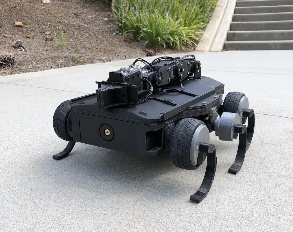 미국 조지아대 연구진이 개발한 바퀴 모양을 스스로 바꾸는 로봇. <사진=조지아대>