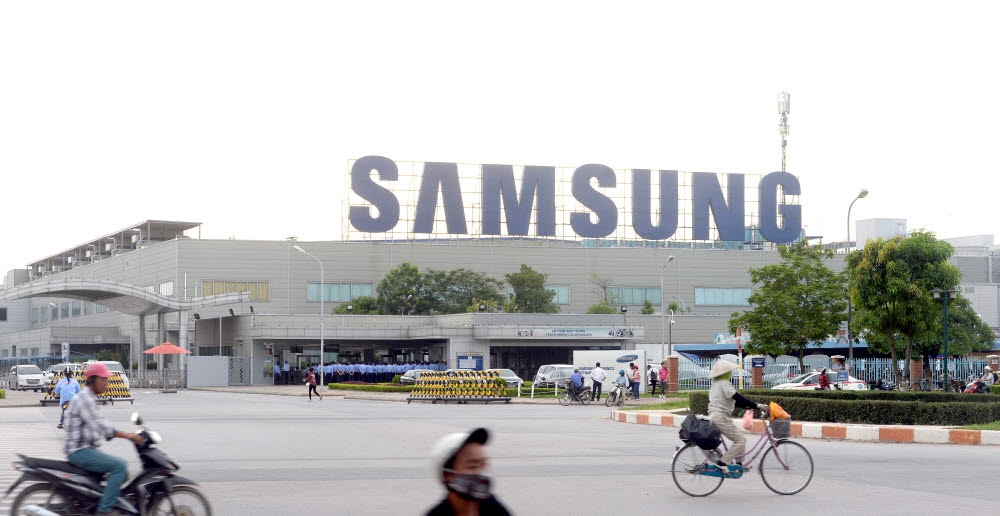 스마트폰을 생산하는 삼성전자 베트남 공장 전경<자료: 전자신문DB>