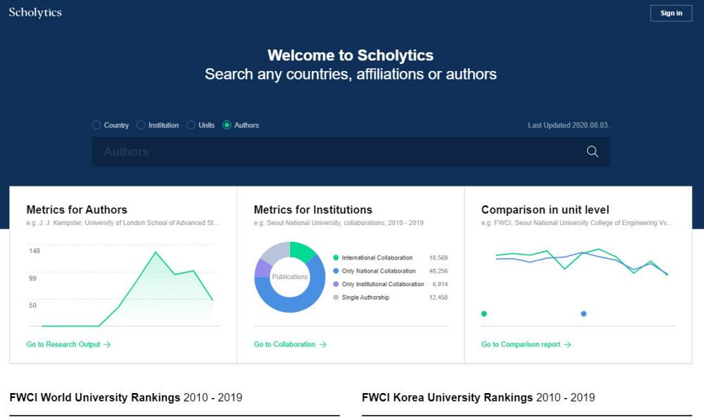 네이버, 글로벌 연구평가 서비스 '스칼리틱스(Scholytics)' 국내 출시