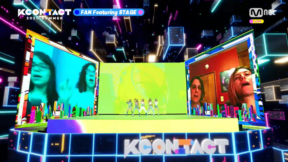 KCON:TACT 2020 SUMMER 방송장면. (사진=CJ ENM 제공)