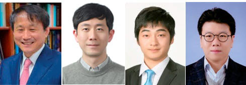 고성능 이산화탄소 환원 촉매를 개발한 포스텍 연구팀. 왼쪽부터 이종람 교수, 동완재 박사, 유철종 박사, 이동화 교수.