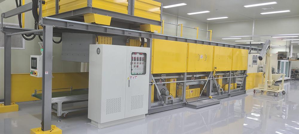 중우엠텍이 경기도 안산에 구축한 UTG 가공 생산라인