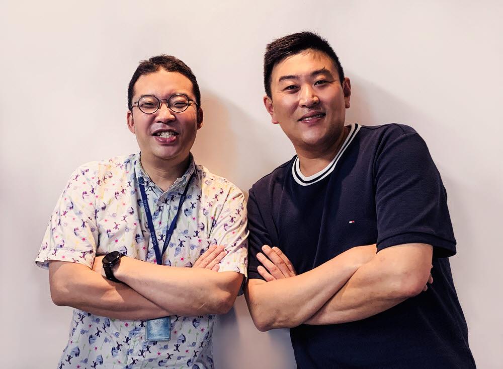 우상준 나부스튜디오 대표(왼쪽)와 변종수 부사장.