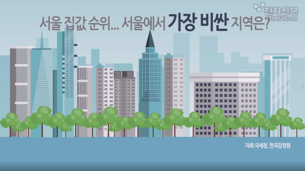 [모션그래픽]서울 집값 순위... 서울에서 가장 비싼 지역은