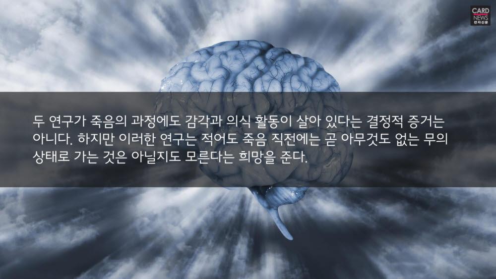 [카드뉴스]죽음 직전 뇌에선 어떤 일이?