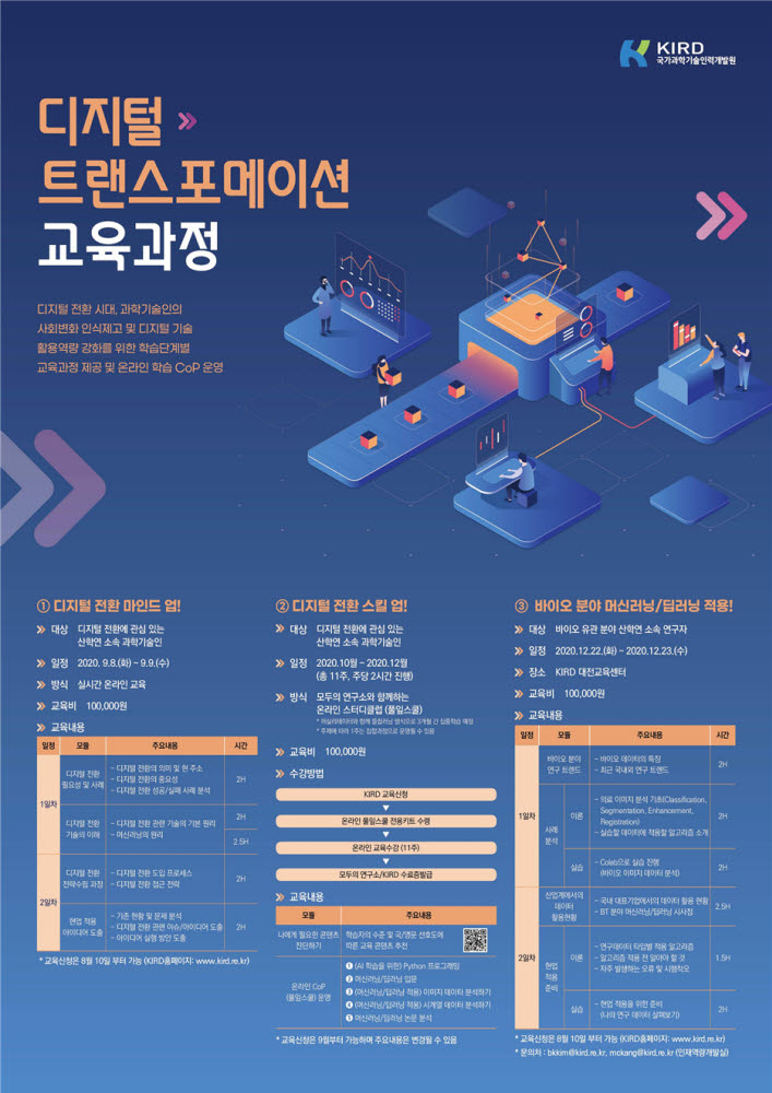 디지털 트랜스포메이션 교육과정 안내 포스터