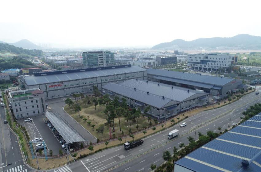 해피콜 생산 공장 모습.