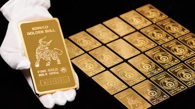 조폐공사, 황금소 디자인 적용 '골든 불 골드바' 출시