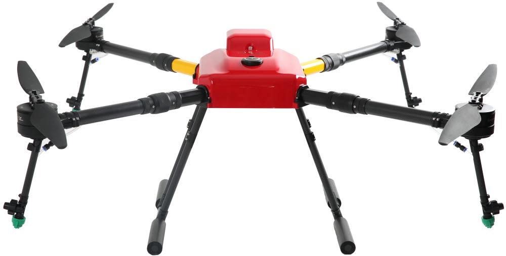 이노드 등이 국산 FC를 채택해 공동 개발한 방제드론 케이드론(Kdrone-A1).
