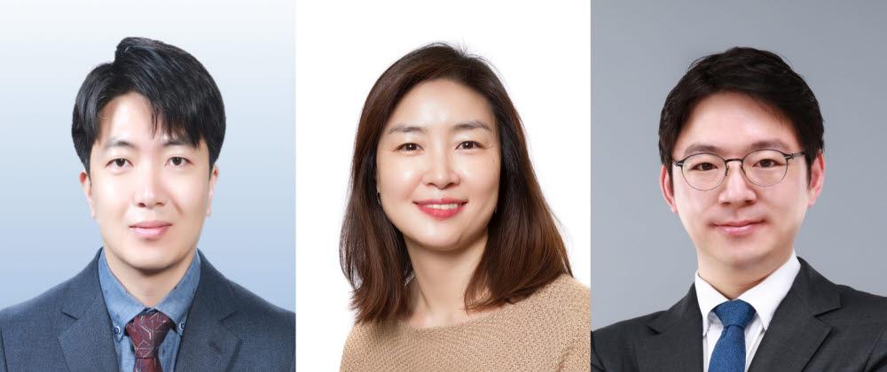 (좌측부터)노성훈, 이주현, 조원기 교수