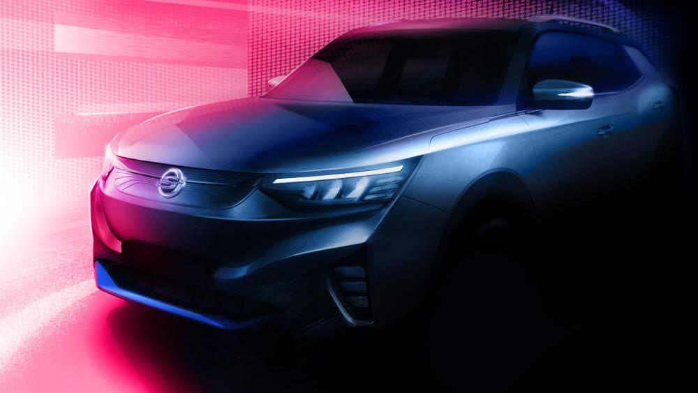 쌍용차가 내년 출시할 전기차 E100 이미지.