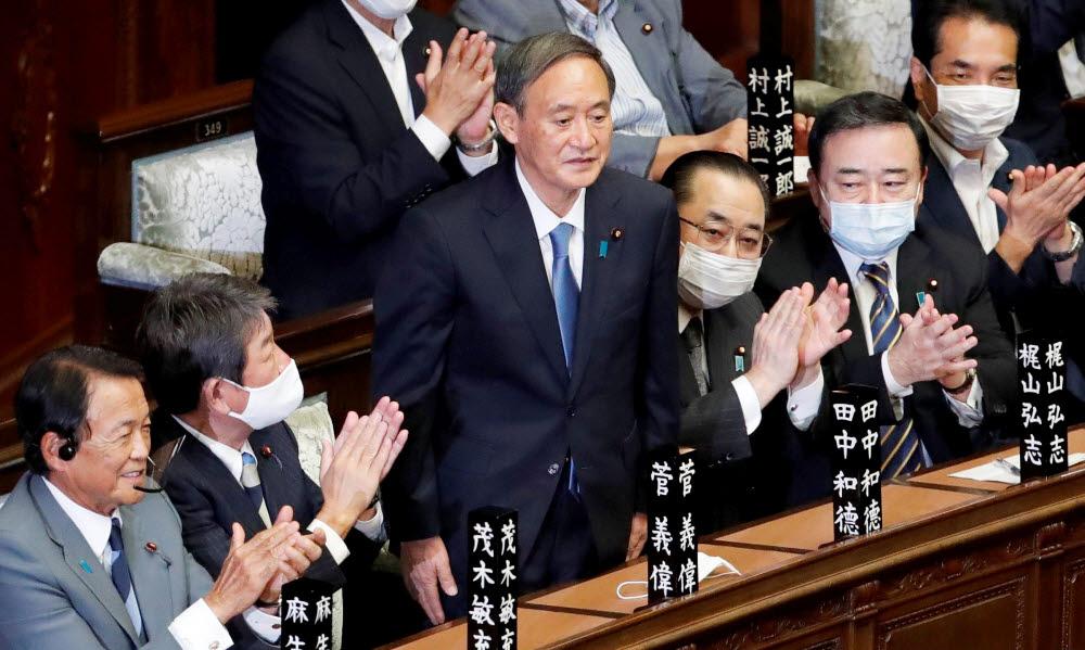 스가 요시히데, 일본 새 총리로 선출
