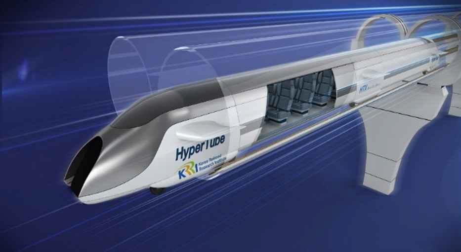 철도연이 개발중인 최고시속 1,200km의 하이퍼튜브 개념도