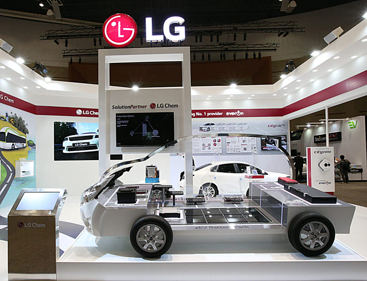 LG화학 배터리를 탑재한 전기자동차.