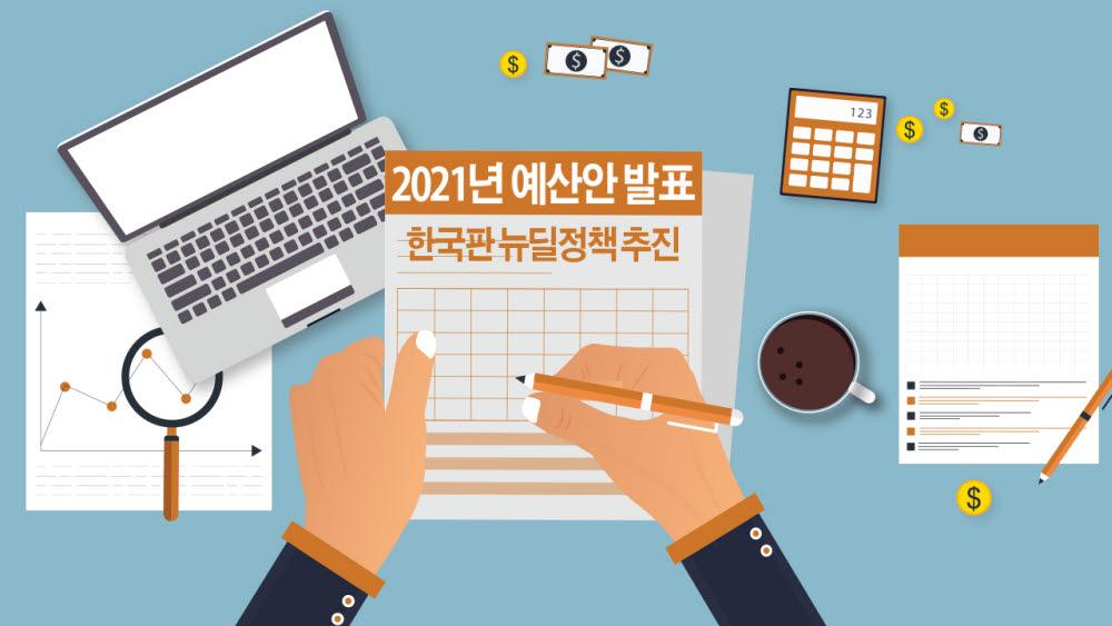 [모션그래픽]2021년도 예산안 발표 / 한국판 뉴딜정책 추진