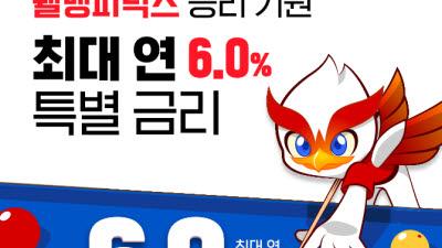 웰컴저축銀, 연 6% '웰뱅하자 정기적금 특판' 완판 행진