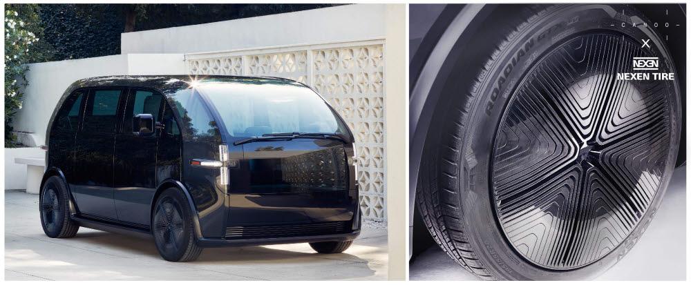 넥센타이어가 미국 전기차 스타트업 카누에 신차용 타이어를 공급한다.