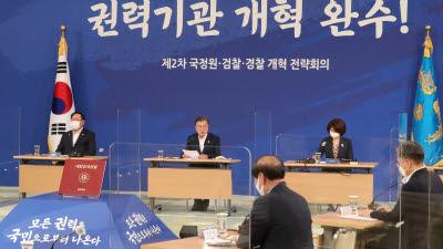 문 대통령, 정원·검찰·경찰 개혁 전략회의 주재