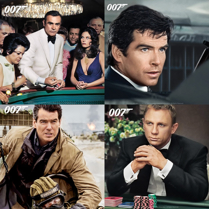 웨이브가 007 시리즈 전편을 서비스한다.