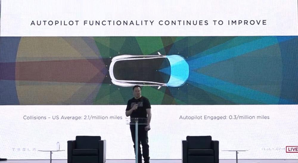 일론 머스크 테슬라 CEO가 22일(현지시간) 미국 캘리포니아주 프레몬트공장에서 열린 배터리 데이에서 발언하고 있다. (테슬라 배터리 데이 영상 캡처)