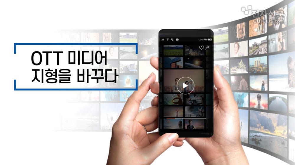 [모션그래픽]OTT 미디어 지형을 바꾸다