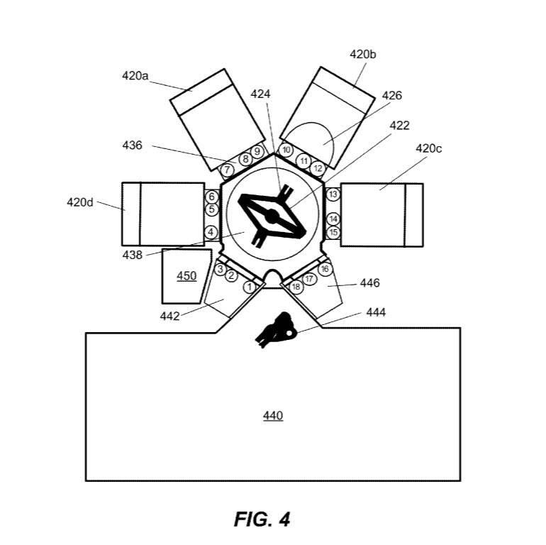 <램리서치 EUV PR 증착 장비 특허 보고서에 묘사된 장비 그림. <사진=램리서치>>