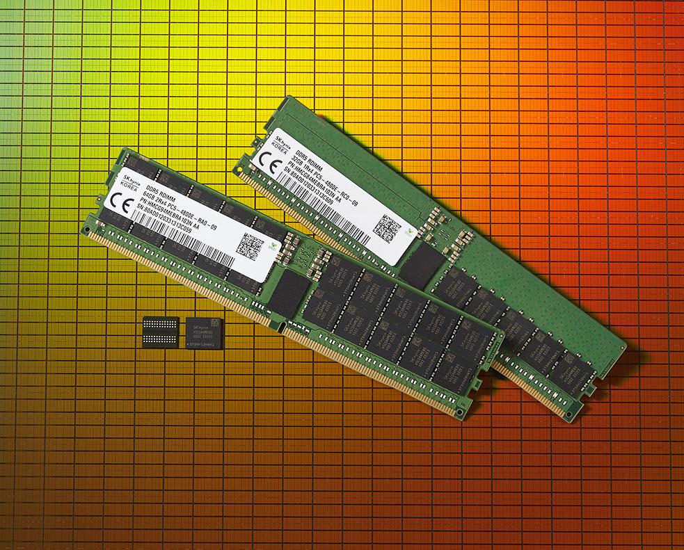 SK하이닉스가 세계에서 처음으로 출시한 DDR5 D램. <사진=SK하이닉스>