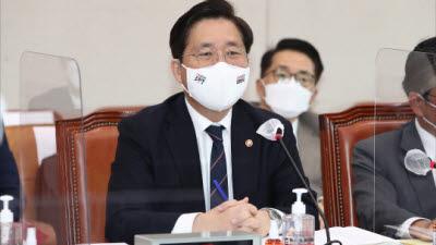"""성윤모 장관 """"신한울 3, 4호기 건설 중단 절차 문제 없다"""""""