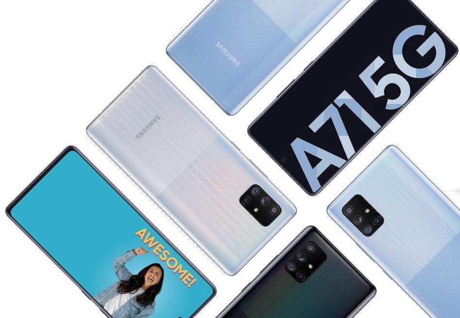 삼성전자 중가 스마트폰인 갤럭시A71. 삼성전기는 내년 출시될 갤럭시A72와 52에 카메라 모듈을 공급할 계획이다.<사진=삼성전자>