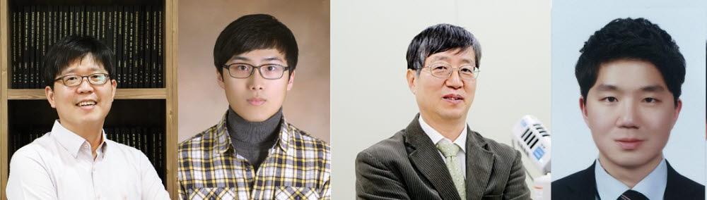 실리카가 코팅된 다공성 양극산화 알루미늄을 이용해 에너지 소배가 필요 없는 주간 복사 냉각 기술을 개발한 연구팀. 왼쪽부터 노준석 교수, 이다솔 씨, 김진곤 교수, 고명철 씨