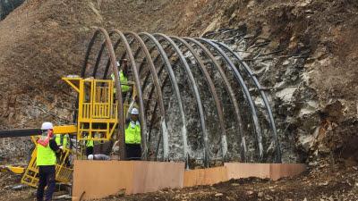 건설연, 시공성 향상된 터널 강지보재 개발...원가절감 효과도